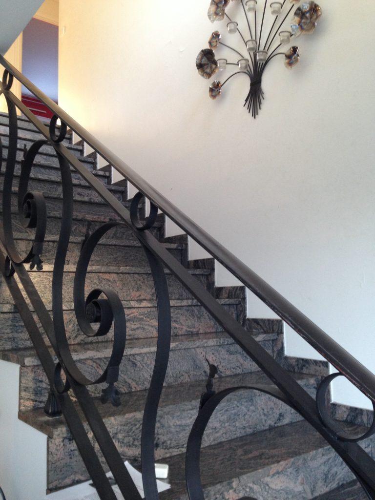 marbre rampe escalier
